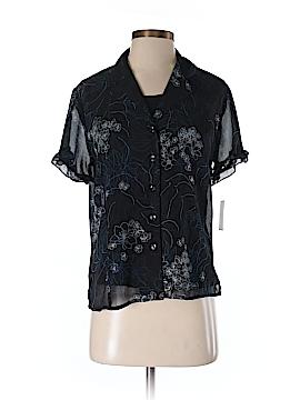 Sag Harbor Short Sleeve Blouse Size S (Petite)