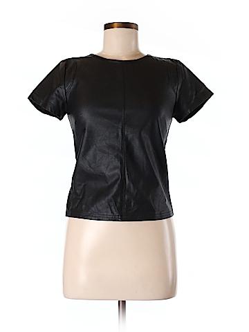 Olivaceous Faux Leather Top Size M