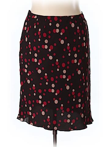 INC International Concepts Silk Skirt Size 18W (Plus)