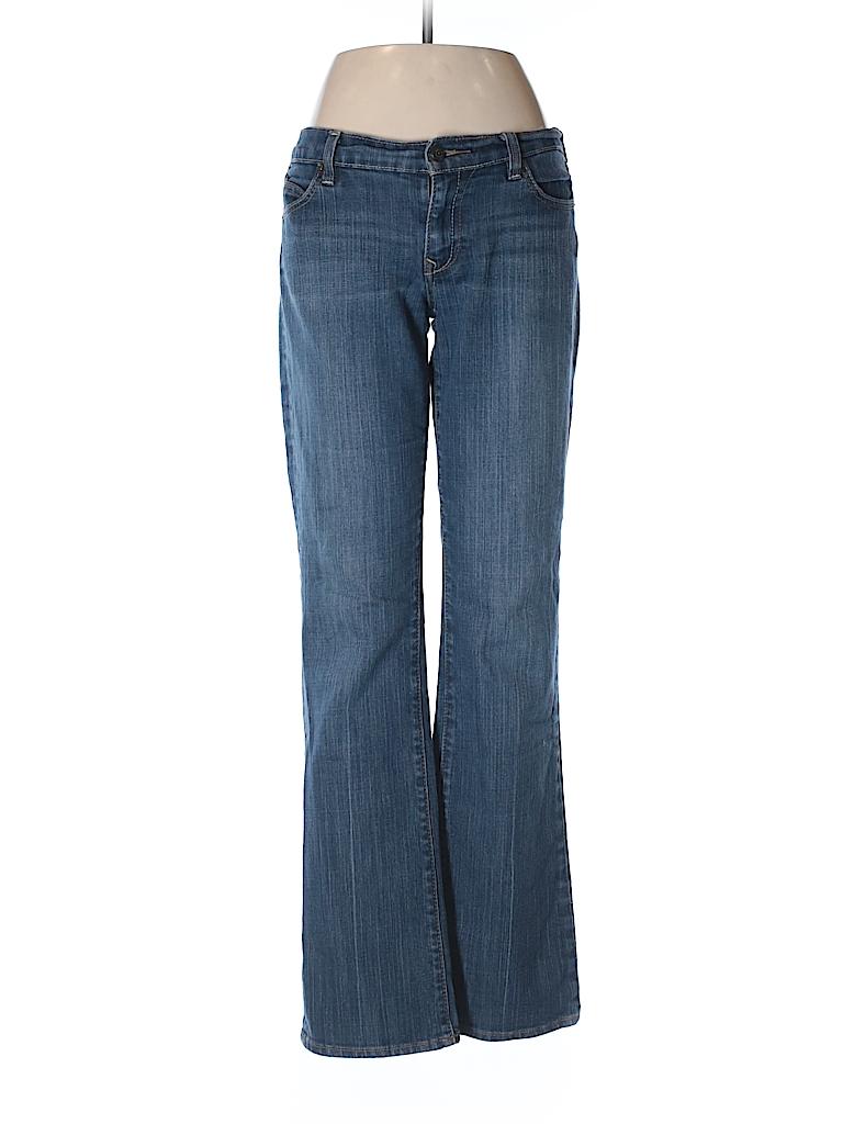 Old navy solid dark blue jeans size 10 68 off thredup for Denim shirt women old navy