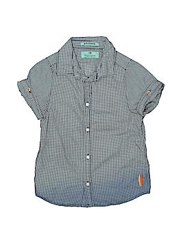 Scotch Shrunk Short Sleeve Button-Down Shirt Size 4