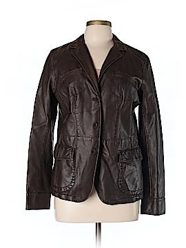 Liz & Co Faux Leather Jacket Size L