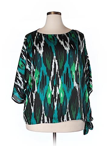 MICHAEL Michael Kors 3/4 Sleeve Blouse Size 2X (Plus)