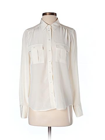 J. Crew Long Sleeve Silk Top Size 4