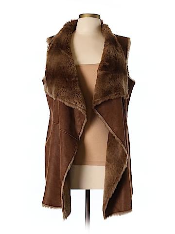 Hawke & Co. Faux Fur Vest Size M