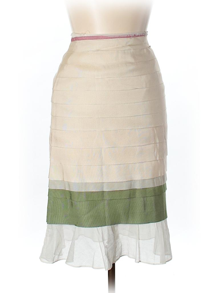 5990a51e603 Lela Rose Color Block Beige Casual Skirt Size 10 - 98% off