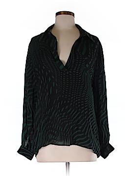 Dora Landa Long Sleeve Silk Top Size M