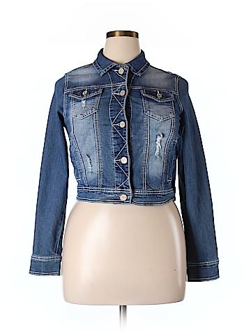 Maurices Women Denim Jacket Size L