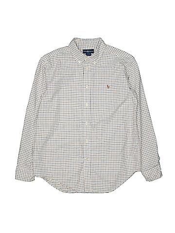 Ralph Lauren Long Sleeve Button-Down Shirt Size 14-16