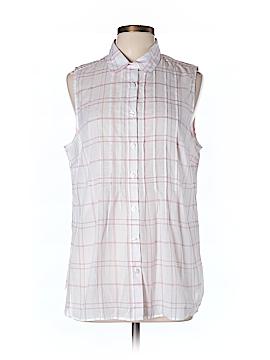 CAbi Sleeveless Button-Down Shirt Size L