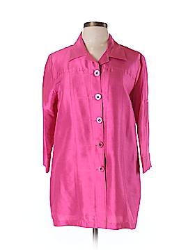 Neiman Marcus 3/4 Sleeve Silk Top Size L