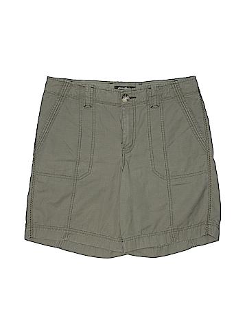 Eddie Bauer Women Khaki Shorts Size 8 (Tall)