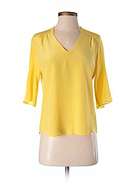 Amanda Uprichard Short Sleeve Silk Top Size P