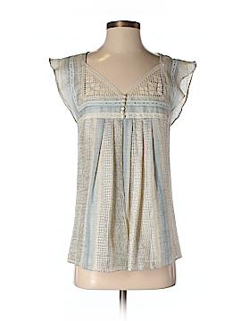 Lauren Moffatt Short Sleeve Blouse Size XS