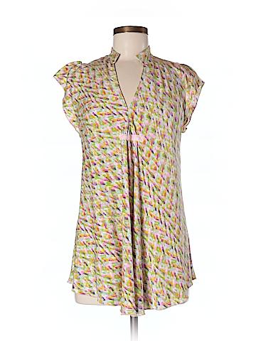 Diane von Furstenberg Short Sleeve Silk Top Size M