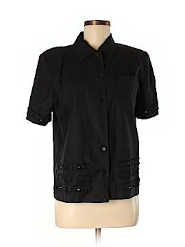 Erin London Short Sleeve Button-Down Shirt Size S