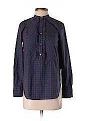 H&M Women Long Sleeve Button-Down Shirt Size 0