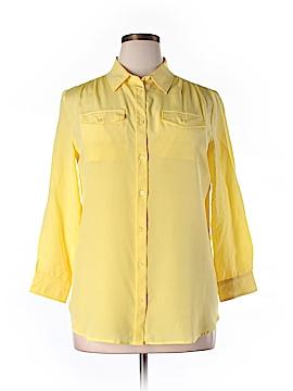 Weekend Max Mara Long Sleeve Silk Top Size XL