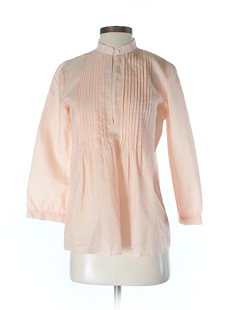 Theory Women 3/4 Sleeve Silk Top Size S
