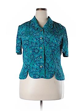 Leslie Fay Short Sleeve Blouse Size 18 (Plus)