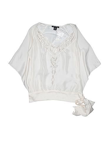 Heart Moon Star 3/4 Sleeve Silk Top Size XS