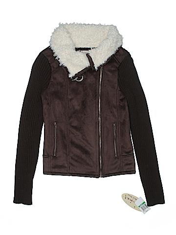 Glimmer Women Faux Leather Jacket Size L