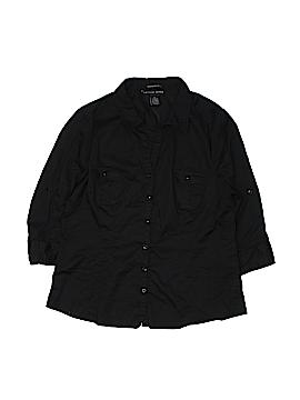 Antilia Femme 3/4 Sleeve Button-Down Shirt Size XL