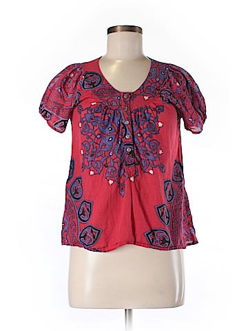 Nieves Lavi Short Sleeve Button-Down Shirt Size 6