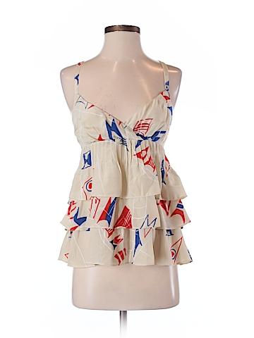 We Love Vera Women Sleeveless Silk Top Size 2
