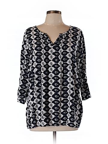 Adrienne Vittadini 3/4 Sleeve Blouse Size 1X (Plus)