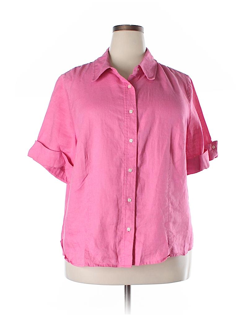 Studio By Liz Claiborne Short Sleeve Button Down Shirt