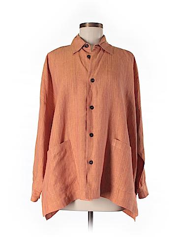Eskandar Long Sleeve Button-Down Shirt Size 6