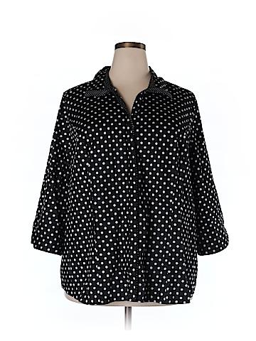 Lane Bryant 3/4 Sleeve Button-Down Shirt Size 28 (Plus)