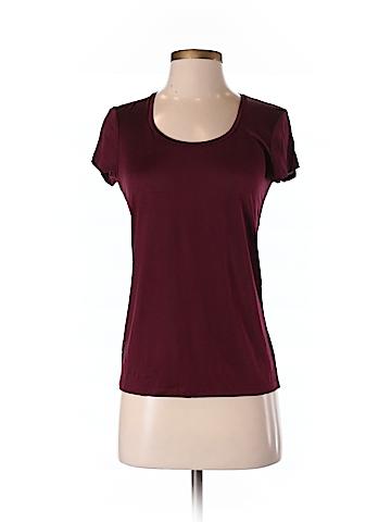 Ann Taylor Women Short Sleeve Silk Top Size S (Petite)