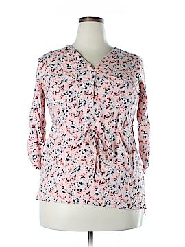 MEV Mothers En Vogue 3/4 Sleeve Blouse Size L (Maternity)