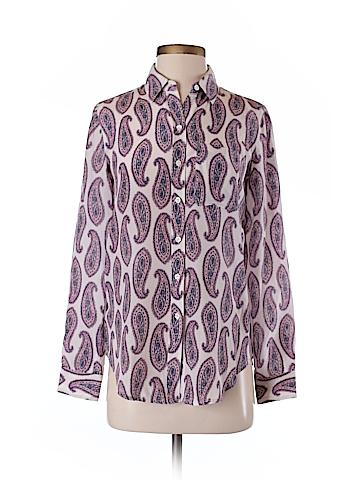 Ann Taylor Long Sleeve Silk Top Size XXS