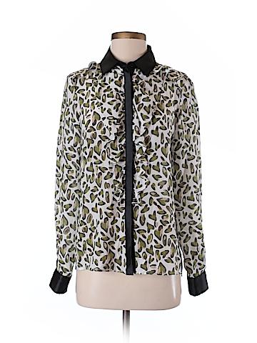 Sportmax Code Long Sleeve Silk Top Size 4