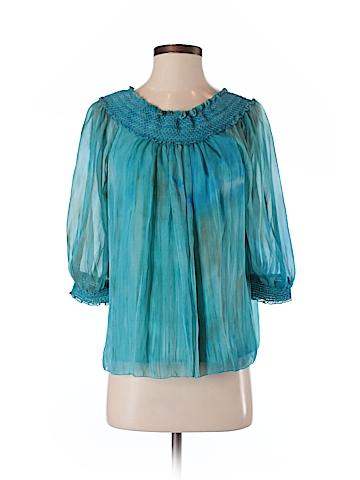 Alice + olivia 3/4 Sleeve Silk Top Size S