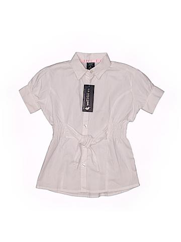 U.S. Polo Assn. Short Sleeve Button-Down Shirt Size 4
