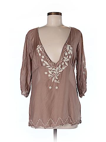 Gold Hawk Women 3/4 Sleeve Blouse Size M