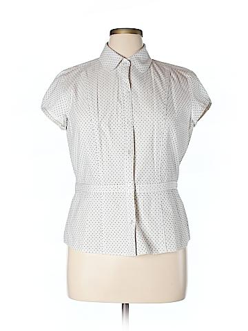 Ann Taylor Short Sleeve Button-Down Shirt Size 16