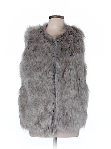 Merona Faux Fur Vest Size L