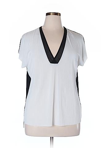 Zara W&B Collection Short Sleeve Top Size XL
