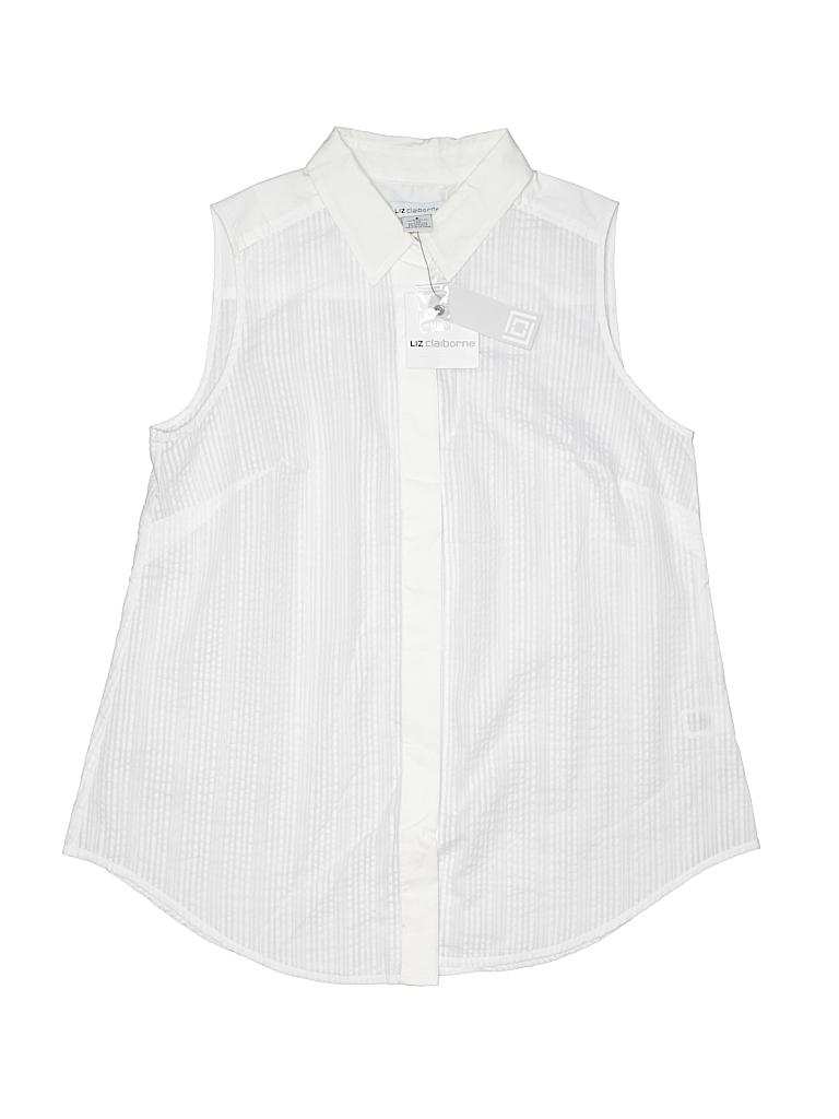Liz claiborne sleeveless button down shirt 61 off only for Sleeveless cotton button down shirts