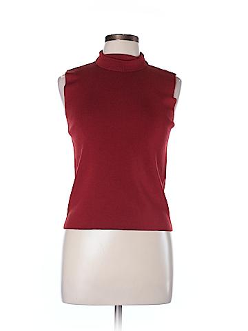 Linda Allard Ellen Tracy Sweater Vest Size L (Petite)