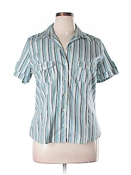 Ann Taylor Factory Short Sleeve Button-Down Shirt Size 16