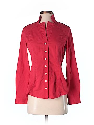 Pell & Co. Long Sleeve Button-Down Shirt Size 4