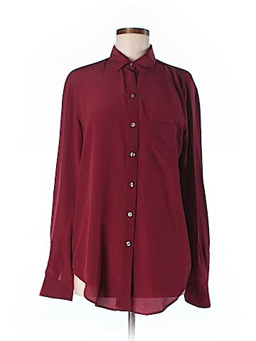 Ann Taylor LOFT Long Sleeve Silk Top Size M (Tall)