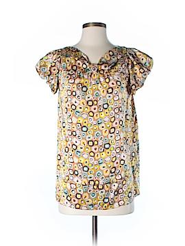 Diane von Furstenberg Short Sleeve Silk Top Size 2