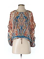 Fifteen Twenty Women Short Sleeve Silk Top Size XS